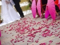 Wedding Ceremony with Flower Petals