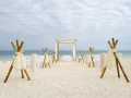 Wedding Installation On The Caribbean Beach